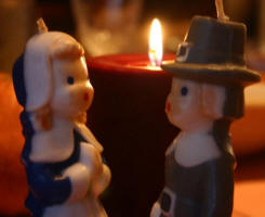 VINTAGE THANKSGIVING CANDLES