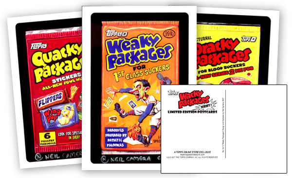 2007 Wacky Packages Series 1 Limited Edition Postcards
