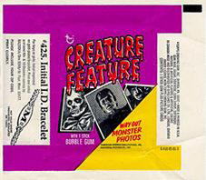 Creature Feature monster card wrapper.