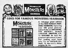 Famous Monsters card back.