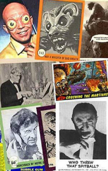 Monster cards from the 1950's and 1960's.