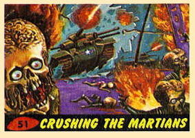 Mars Attacks trading card set.