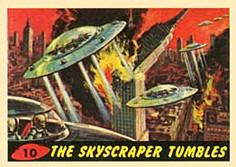 Mars Attacks trading cards.