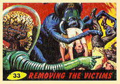 Mars Attacks cards.