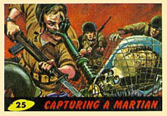Mars Attacks bubble gum card.