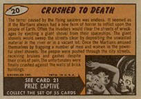 Mars Attacks card back.