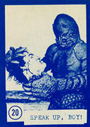 Monster cards trading card set. Monster of Piedras Blancas.