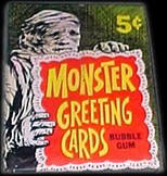 Monster greeting cards pack.