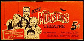 Munsters trading cards box.