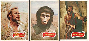 Planet of the Apes cards. Charlton Heston and Roddy McDowall.