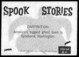 Spook Stories card back.