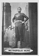 Superman trading cards. Superman Metropolis portrait.