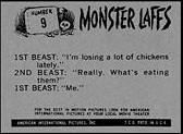 Monster cards. Monster Laffs card back.