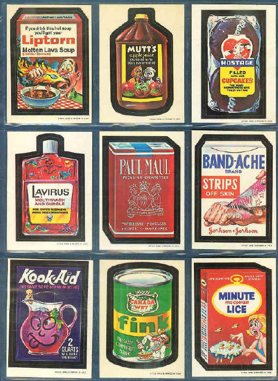 1st series wacky packages