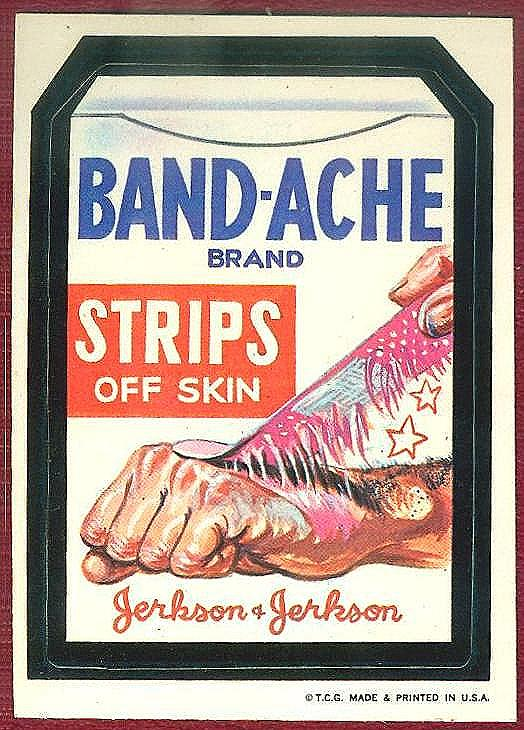 band-ache strips off skin