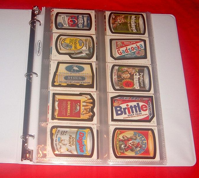 Wacky packages storage ideas the 10 pocket fits smaller cards like the irish series album stickers and 1974 tattoos these pages are actually made for business cards and should be colourmoves