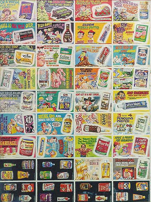 uncut sheet - Wacky Ads - Wacky Packages 1969