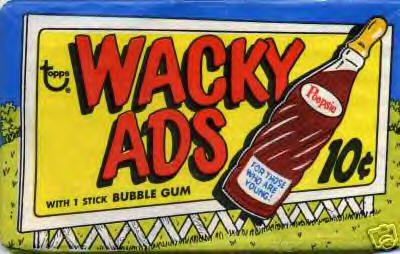 unopened pack - Wacky Ads - Wacky Packages 1969